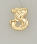 Numerical pin. 3 gold