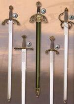 Gran Capitan sword, Carlos V sword, Tizona sword, Alfonso X sword, Colada sword.
