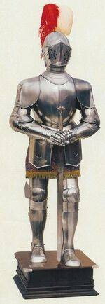 MEDIEVAL ARMOURS OF NATURAL SIZE