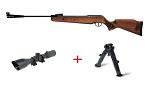 Pack carabina de aire comprimido Cometa Fenix 400 Sniper con visor y bípode