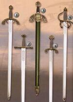Espada Gran Capitan, espada Carlos V, espada Tizona, espada Alfonso X, espada Colada
