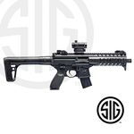 Subfusil Sig Sauer MPX ASP Black + Red Dot Co2 - 4,5 Balines