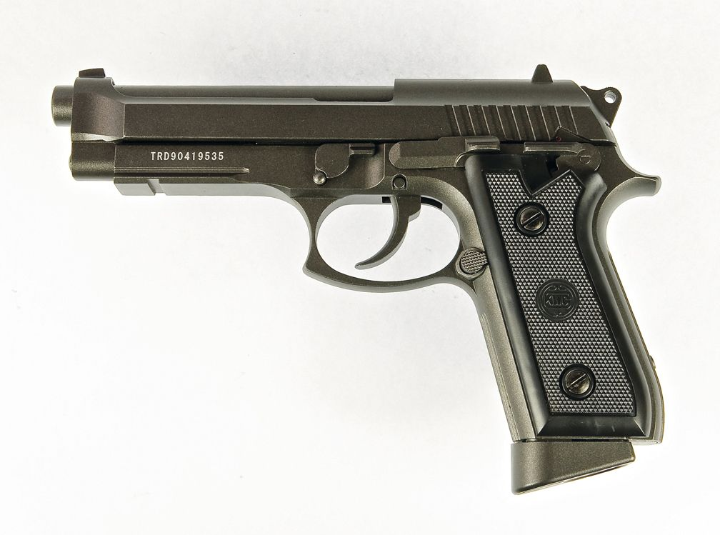 Pistola 92 BLOW BACK CO2 4.5 FULL METAL KWC KMB-15AHN