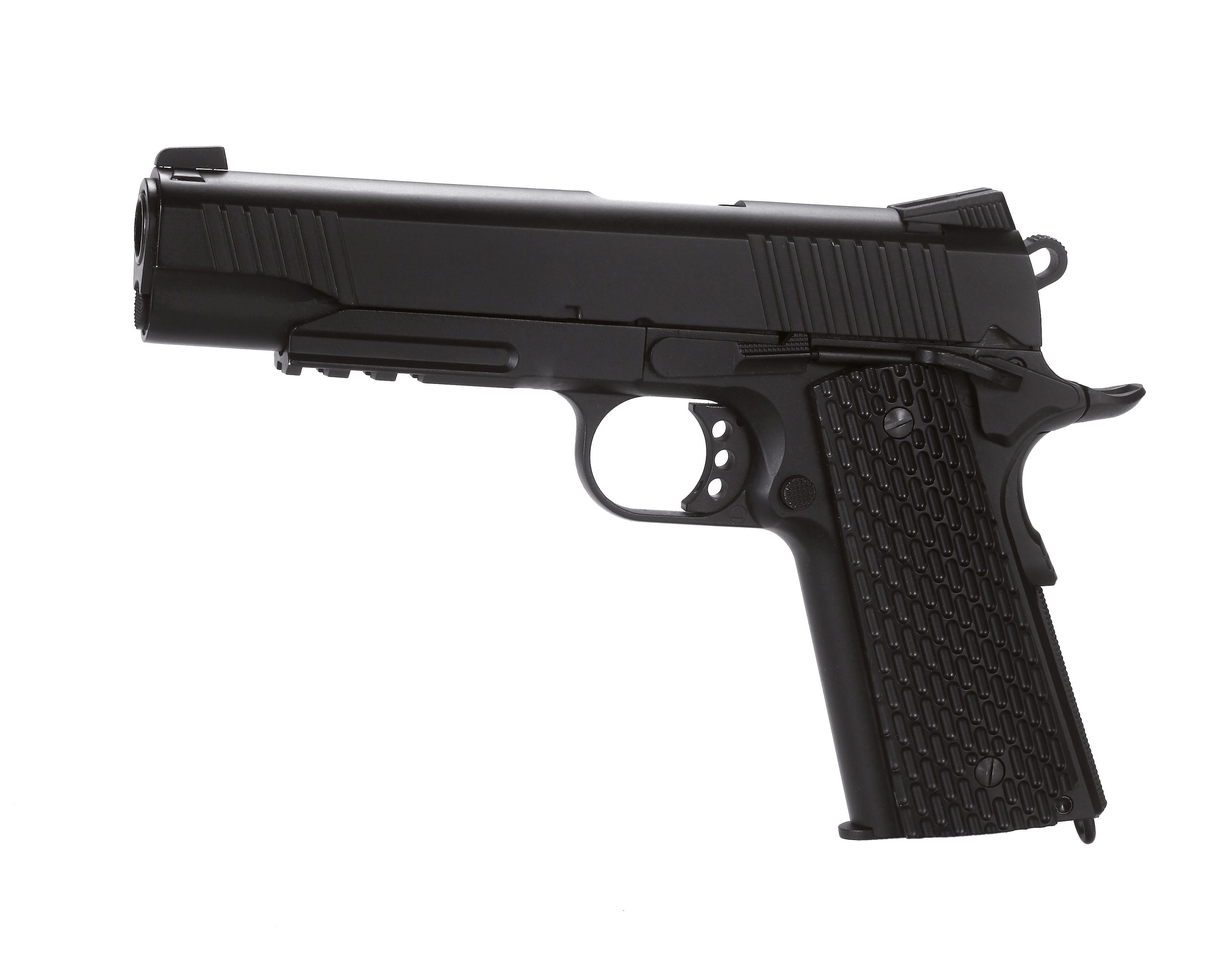 Pistola 1911T BLOW BACK CO2 4.5 FULL METAL KMB-77AHN