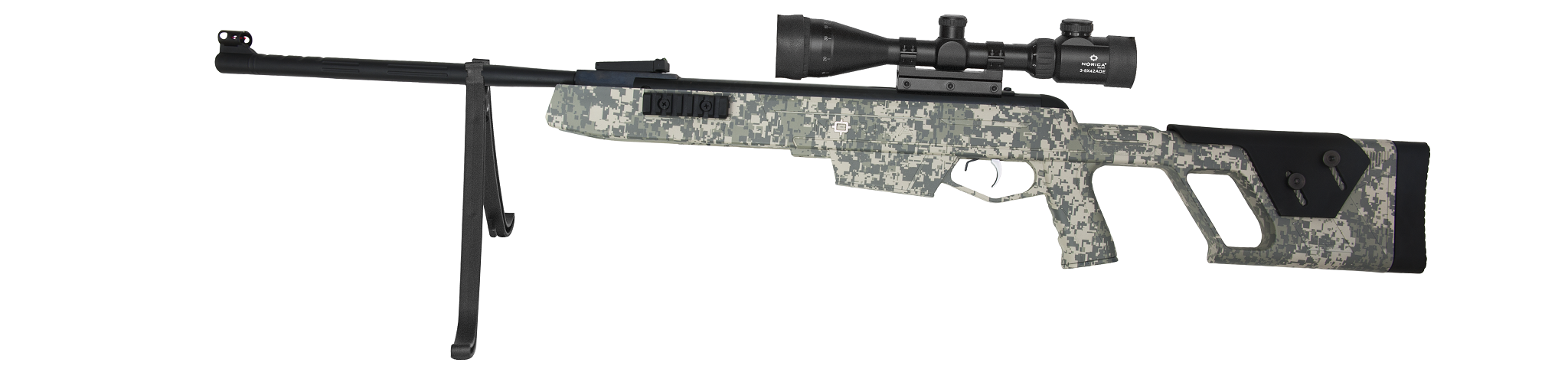 NORICA CARBINE PACK DEAD EYE GRS CAMO 4,5 MM(CARBINE DEAD EYE GRS CAMO + BIPOD)