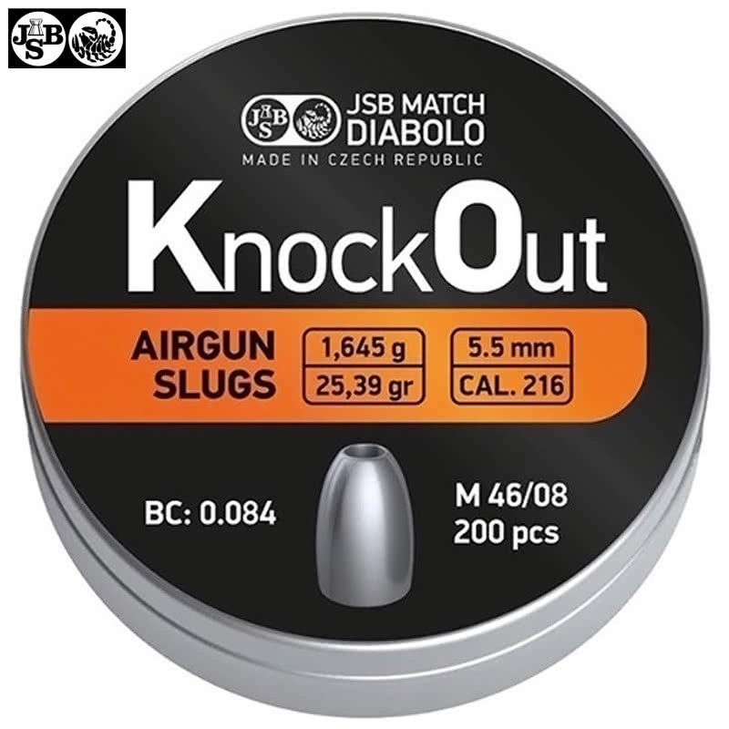 Balines JSB Slugs Knock Out  .22-5.5 mm