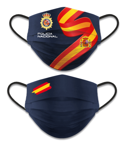 REVERSIBLE FACE MASK, NATIONAL POLICE