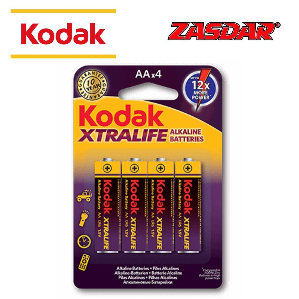 Alkaline battery Kodak Xtralife AA LR6 - Pack 4 pcs.