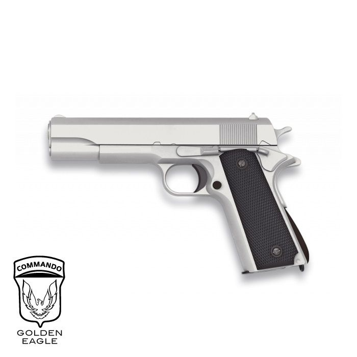 Gun Golden Eagle 1911 Silver sliding metal - 6 mm pier