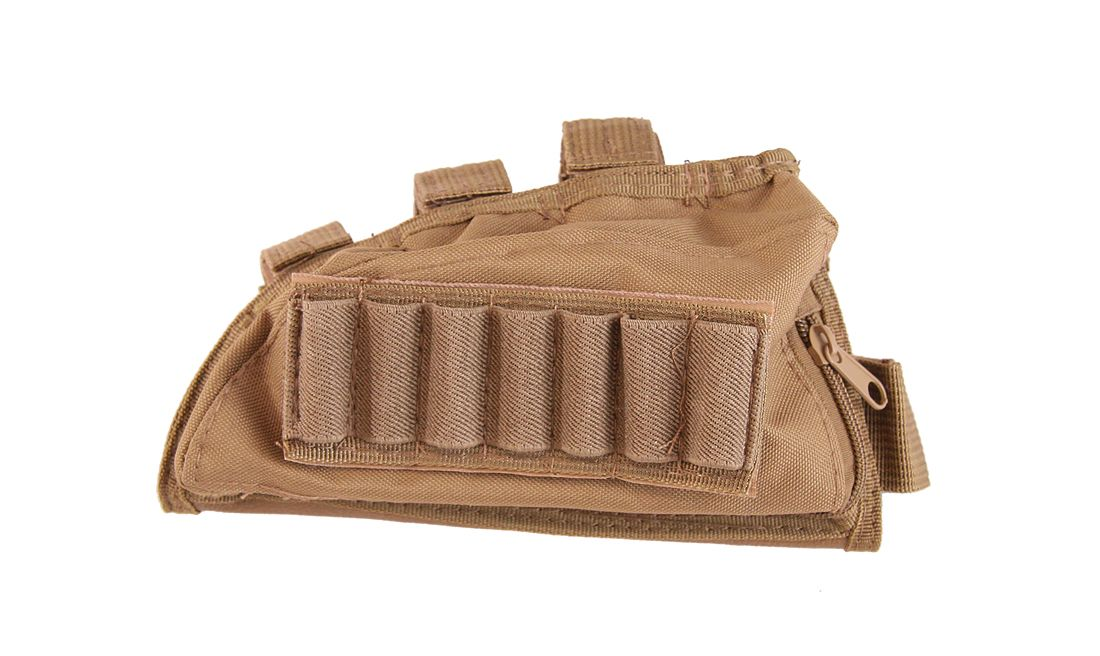 TAN STOCK SHELL POUCH