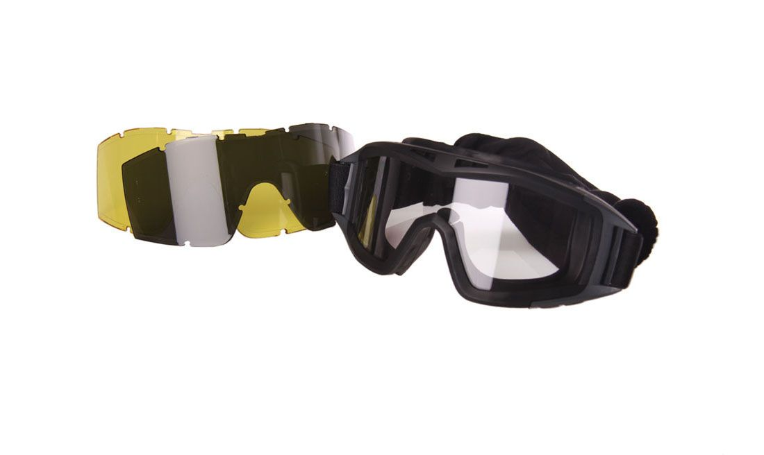 BLACK ANTI FOG GOGGLE