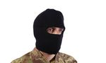 COTTON 1 HOLE BLACK HOOD