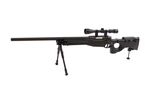 WELL (MB08D) FOLDING STOCK AWP w/ SCOPE BIPOD AIRSOFT SPRING RIFLE