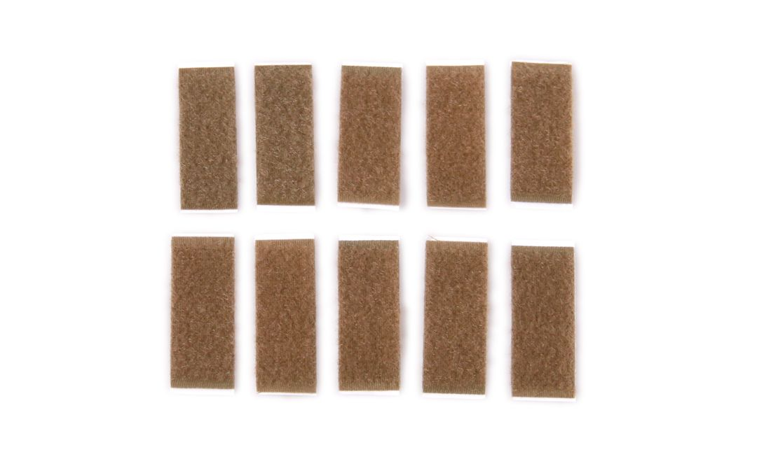 SET VELCRO CASCO 3,8X1,8 TAN