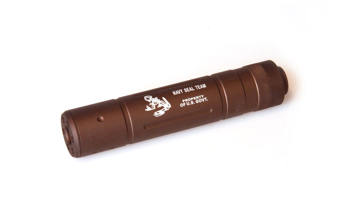 SILENCIADOR MEDIO NAVY SEAL 155MM TAN
