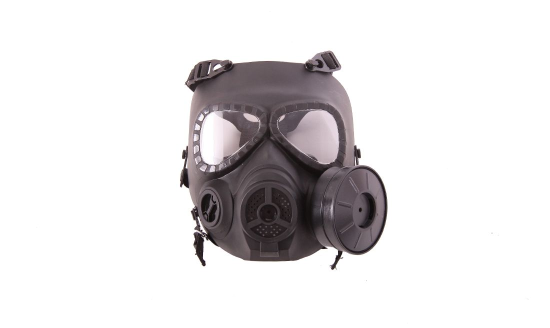 BLACK GAS TYPE MASK w/FAN