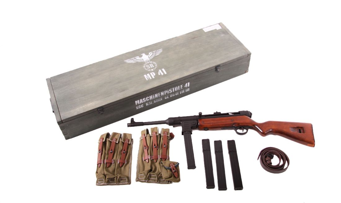 MP41 SPECIAL EDITION BLOW BLACK FULL METAL REAL WOOD SRC AIRSOFT AEG RIFLE