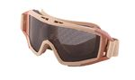 STEEL MESH SCREENED GOGGLE TAN