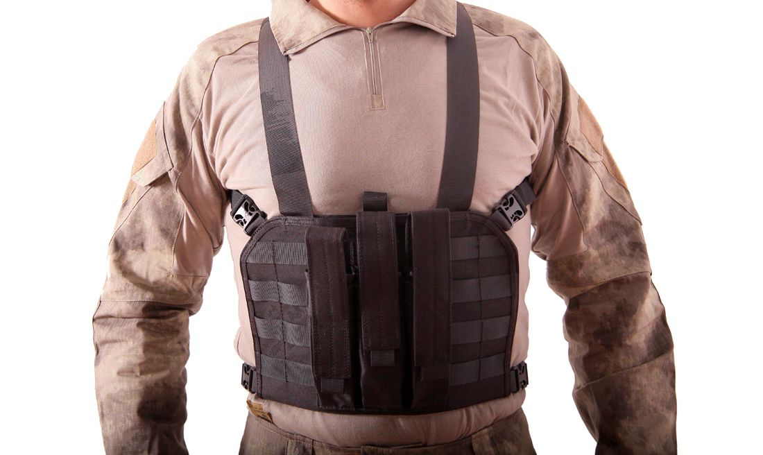 CHALECO CHEST RIG MP7 NEGRO EMERSON