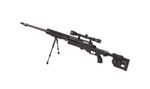 WELL MB4411D WITH SCOPE & BIPOD AIRSOFT BLACK SNIPER RIFLE