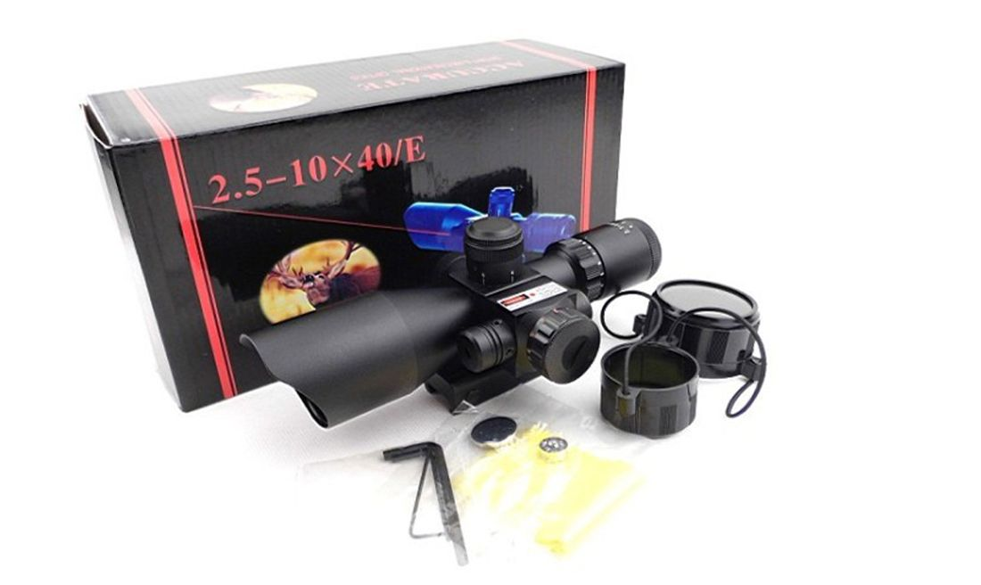 DUEL CODE OG 2.5-10X40E SCOPE & RED LASER