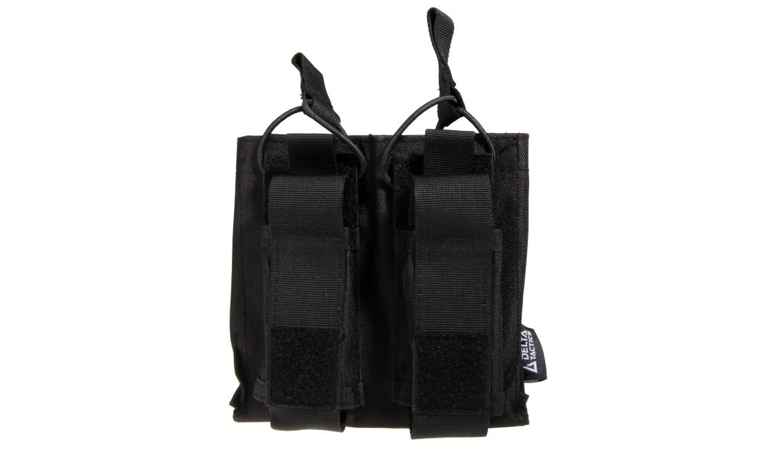 DELTA TACTICS DOUBLE M4/AK MAGAZINE POUCH AND DOUBLE PISTOL MAGAZINE POUCH BLACK