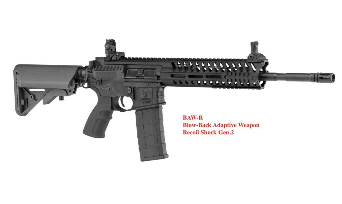 BO DYNAMICS (AR05130) COMBAT LT595 BAW CQB 14.5 BLACK AIRSOFT AEG RIFLE