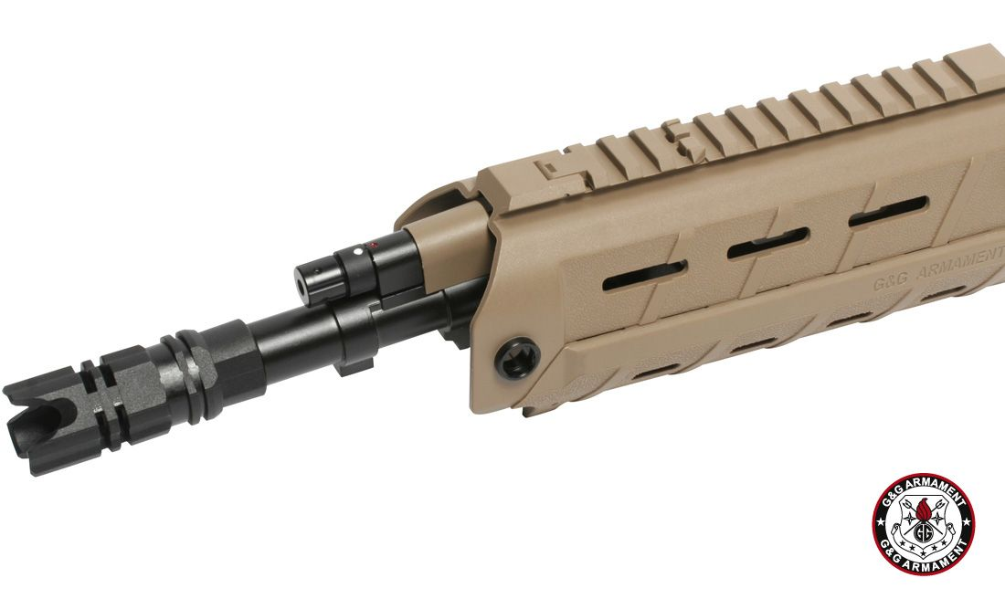 G&G G26 LASER & LED BUILD-IN HAND GUARD SET (DESERT TAN)