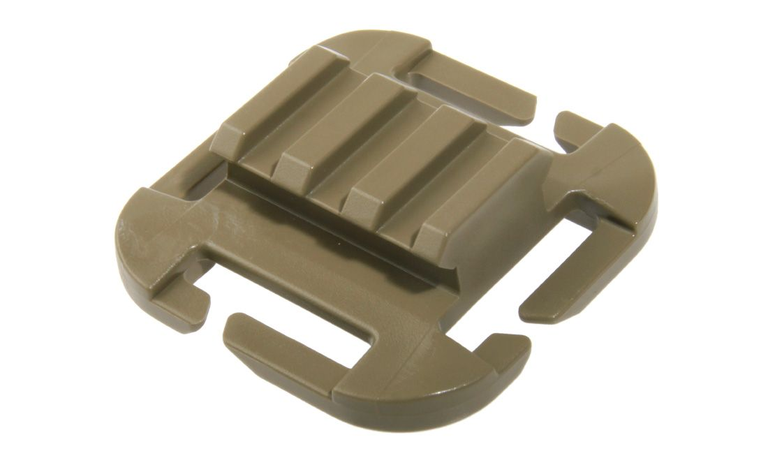 CLIP Q.A.S.M PICATINNY RAMP ITW NEXUS CON TECNOLOGIA GHILLITEX 25 MM TAN