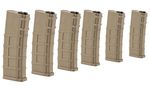 PACK OF 6 BO DYNAMICS M4 30RDS POLYMER TAN MAGAZINES