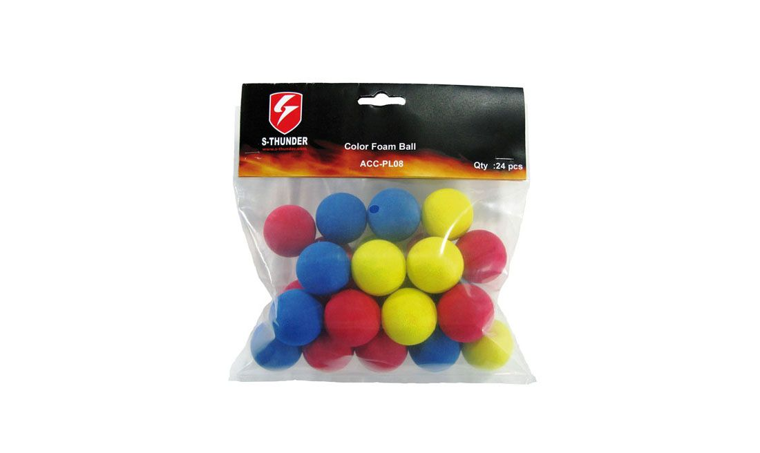 S-THUNDER PELOTAS 33MM FOAM 24PCS