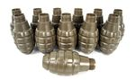HAKKOTSU THENDER B CO2 AIRSOFT SOUND GRENADE 12 SPARE PINEAPPLE SHELLS