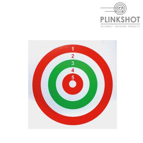 Package 100 white targets Plinkshot 14x14cm