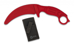 Training knife K25 red 10.6 cm