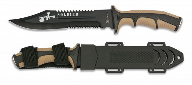 Tactical knife ALBAINOX SOLDIER coyote