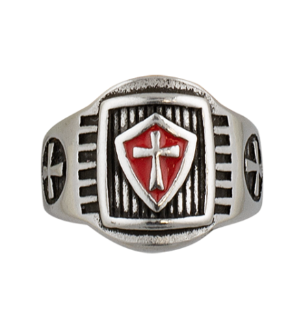 Templar shield ring. Size ø19