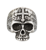 Skull/Cross ring. Size ø21