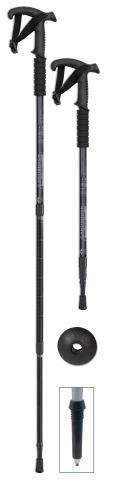 Trekking stick BLACK