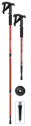 Trekking stick RED
