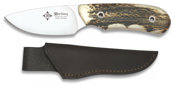 Hunting knife. Stag horn. Made in Spain