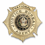 Badge for wallet US AGENT JUSTICE