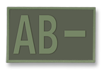Tactical patche. Rubber. Blood type (AB-) Green