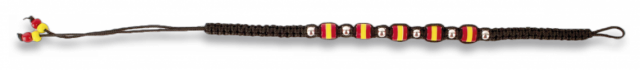 Spanish colours bracelet. Black (25 cm)