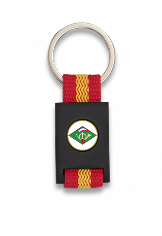 Key ring. Rectangular and black