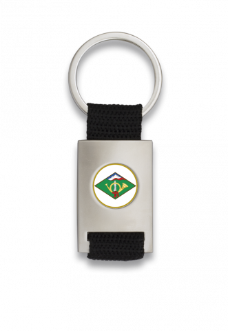 Key ring. Rectangular and chromed