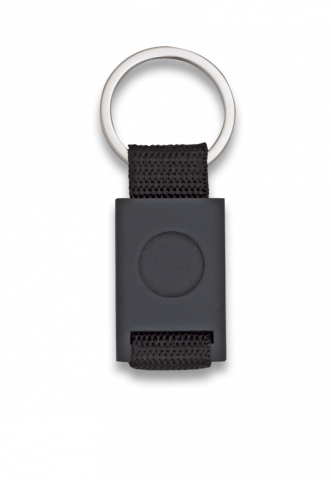 Key-ring. Rectangular and black
