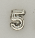 Numerical pin. 5 silver