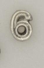 Numerical pin. 6 silver