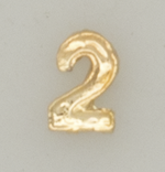 Numerical pin. 2 gold
