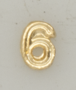 Numerical pin. 6 gold